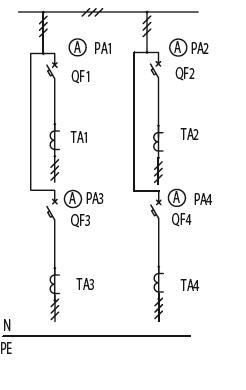 Схема первичных соединений ЩО-70-1-15-У3, ЩО-70-1-16-У3