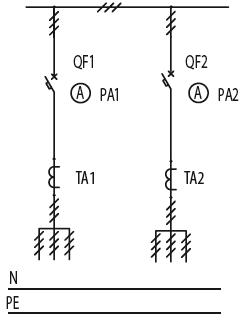 Схема первичных соединений ЩО-70-1-18-У3, ЩО-70-1-19-У3