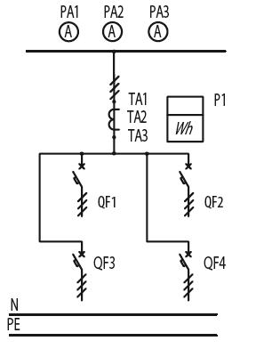 Схема первичных соединений ЩО-70-1-20-У3, ЩО-70-1-29-У3