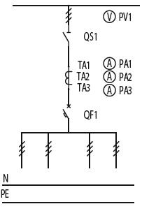 Схема первичных соединений ЩО-70-1-34-У3, ЩО-70-1-52-У3
