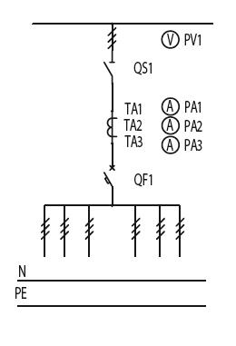 Схема первичных соединений ЩО-70-1-36-У3, ЩО-70-1-55-У3