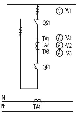 Схема первичных соединений ЩО-70-1-43-У3, ЩО-70-1-67-У3