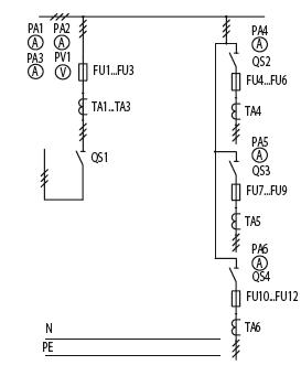 Схема первичных соединений ЩО-70-1-85-У3