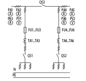 Схема первичных соединений ЩО-70-1-86-У3