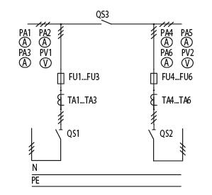Схема первичных соединений ЩО-70-1-87-У3