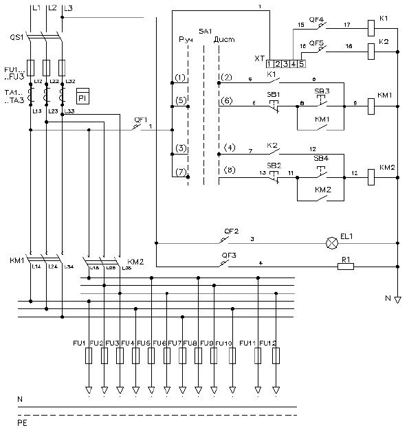 Схема электрическая принципиальная ШНО-02