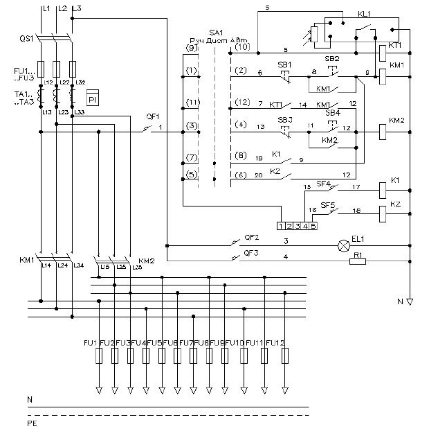 Схема электрическая принципиальная ШНО-03