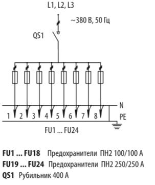 Схема распределительных шкафов ШР-11-73511-31УХЛ3 и ШР-11-73511-54У3