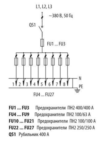 Схема распределительных шкафов ШР-11-73516-31УХЛ3 и ШР-11-73516-54У3
