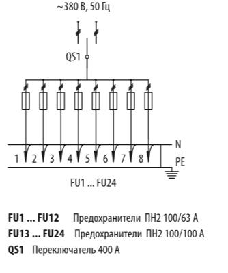 Схема распределительных шкафов ШР-11-73521-31УХЛ3 и ШР-11-73521-54У3