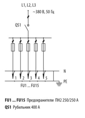 Схема распределительных шкафов ШР-11-73708-31УХЛ3 и ШР-11-73708-54У3