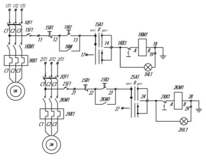 Я5115 для управления нереверсивными электродвигателями