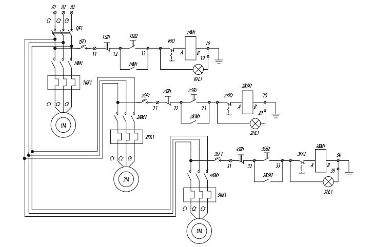 Я5128 для управления нереверсивными электродвигателями