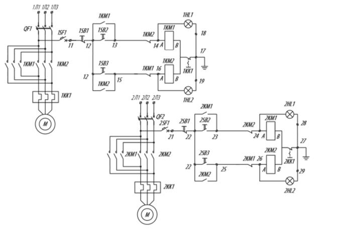 Я5414 для управления реверсивными электродвигателями