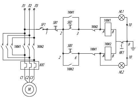 Я5430 для управления реверсивными электродвигателями
