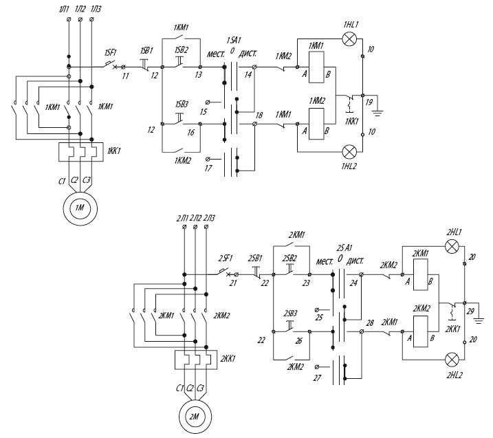 Я5435 для управления реверсивными электродвигателями