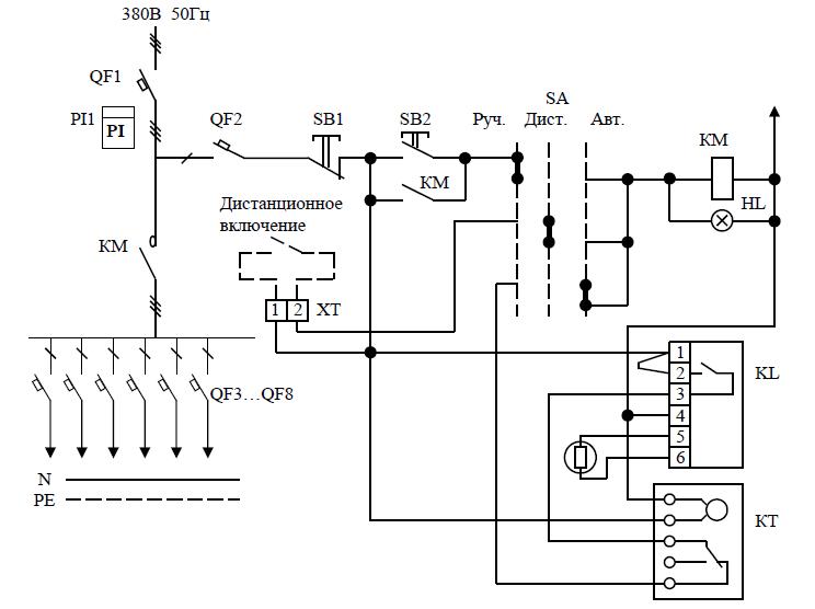 Принципиальная электрическая схема ЯУО-9610