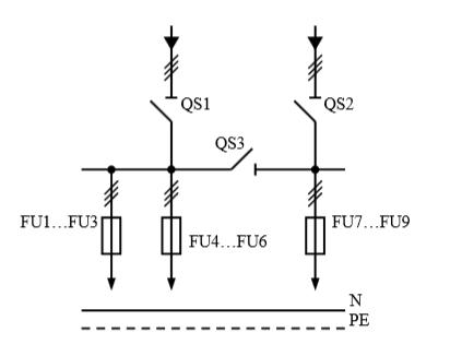 Схема первичных соединений распределительных шкафов ШР-1-34-У3