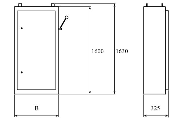 Общий вид и габариты шкафов распределительных ШР-1