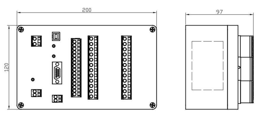 Габаритный чертеж контроллера ПИКОН ГС2