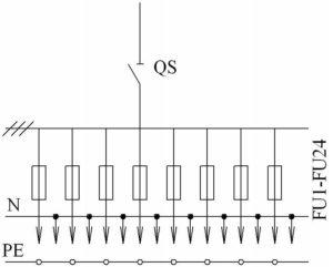 Принципиальная схема ШРС-СЕ с ном. током до 400А