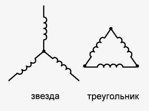 Подключение звезда, треугольник