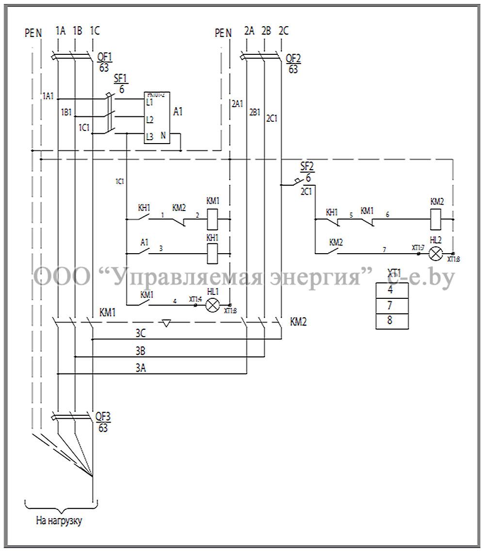 Схема соединений и элементы ЩАП-43