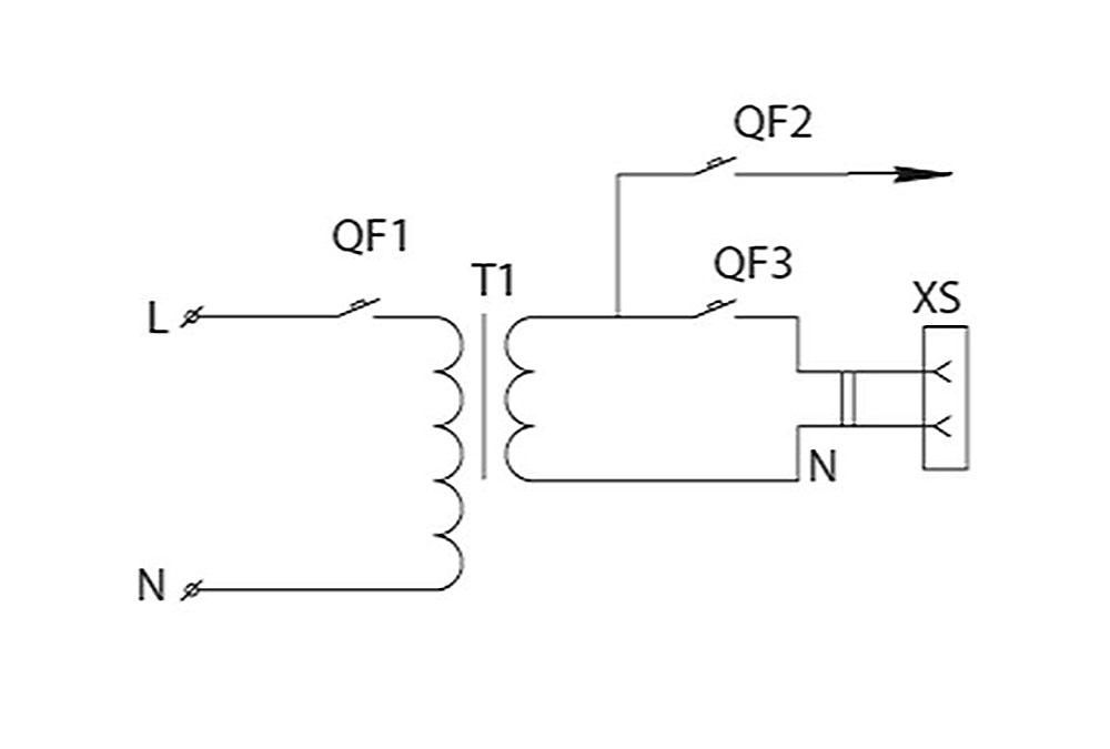 Принципиальная схема ящика серии ЯТП-0,25