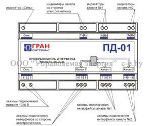 Внешний вид двухканального преобразователя ПД-01