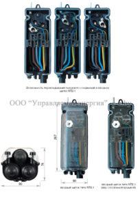 Внешний вид и габариты вводных щитков для опор наружного освещения NTB