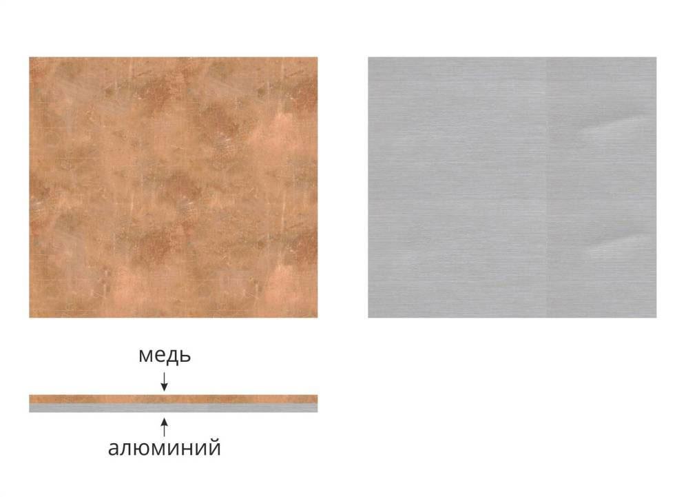 Пластина биметаллическая переходная медь-алюминий