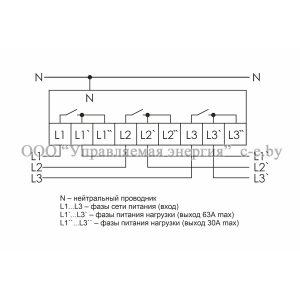 Схема подключения реле напряжения СР-723