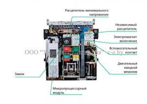 Внешний вид воздушных автоматических выключателей NA1
