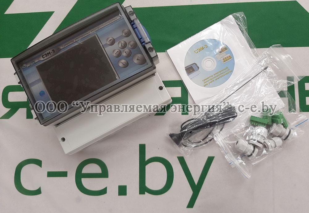 Сумматор СЭМ-3 со встроенным GSM/GPRS модемом, комплект поставки