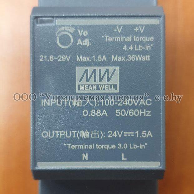 Источник питания HDR-30-24 / 24В, 30Вт, на DIN-рейку